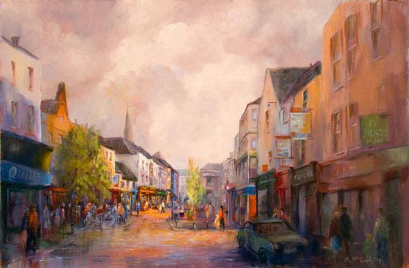 Old Claddagh, Galway, painting