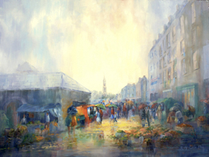 Old Limerick, Market, painting